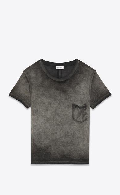 SAINT LAURENT T-Shirt and Jersey U CLASSIC CREWNECK T-SHIRT IN grey Garment Dyed Cotton Jersey a_V4