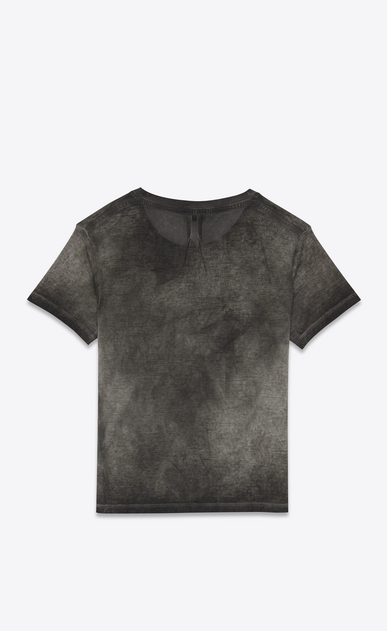 SAINT LAURENT T-Shirt and Jersey U CLASSIC CREWNECK T-SHIRT IN grey Garment Dyed Cotton Jersey b_V4
