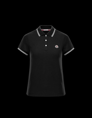 POLO Black Category Polo shirts Woman