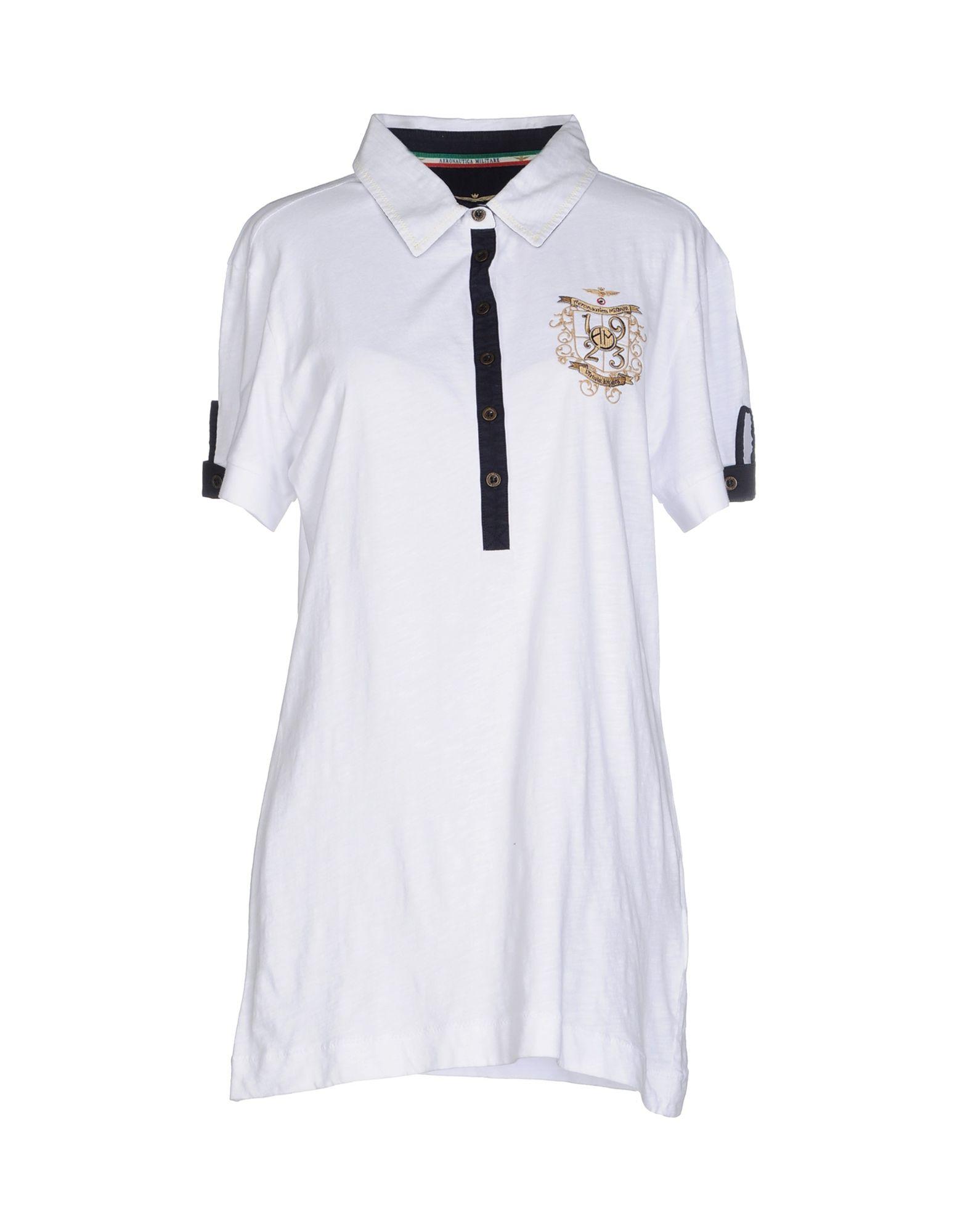 《送料無料》AERONAUTICA MILITARE レディース ポロシャツ ホワイト S コットン 100%