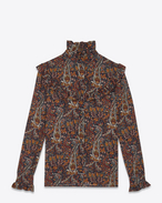 SAINT LAURENT Top e Bluse D Blusa Folk multicolore Paisley vintage in crêpe di viscosa f