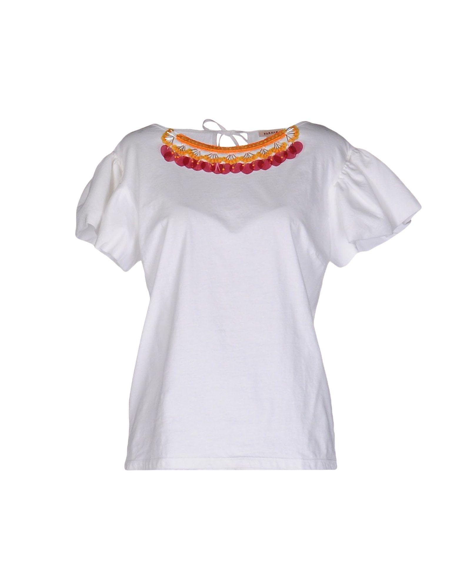 《期間限定セール開催中!》P.A.R.O.S.H. レディース T シャツ ホワイト M コットン 100%