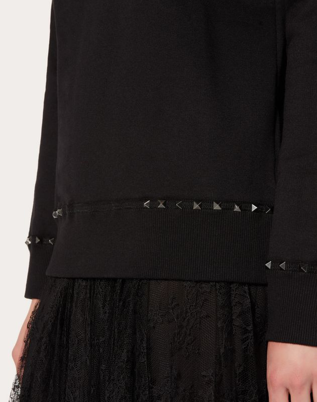 Rockstud Untitled Noir sweatshirt