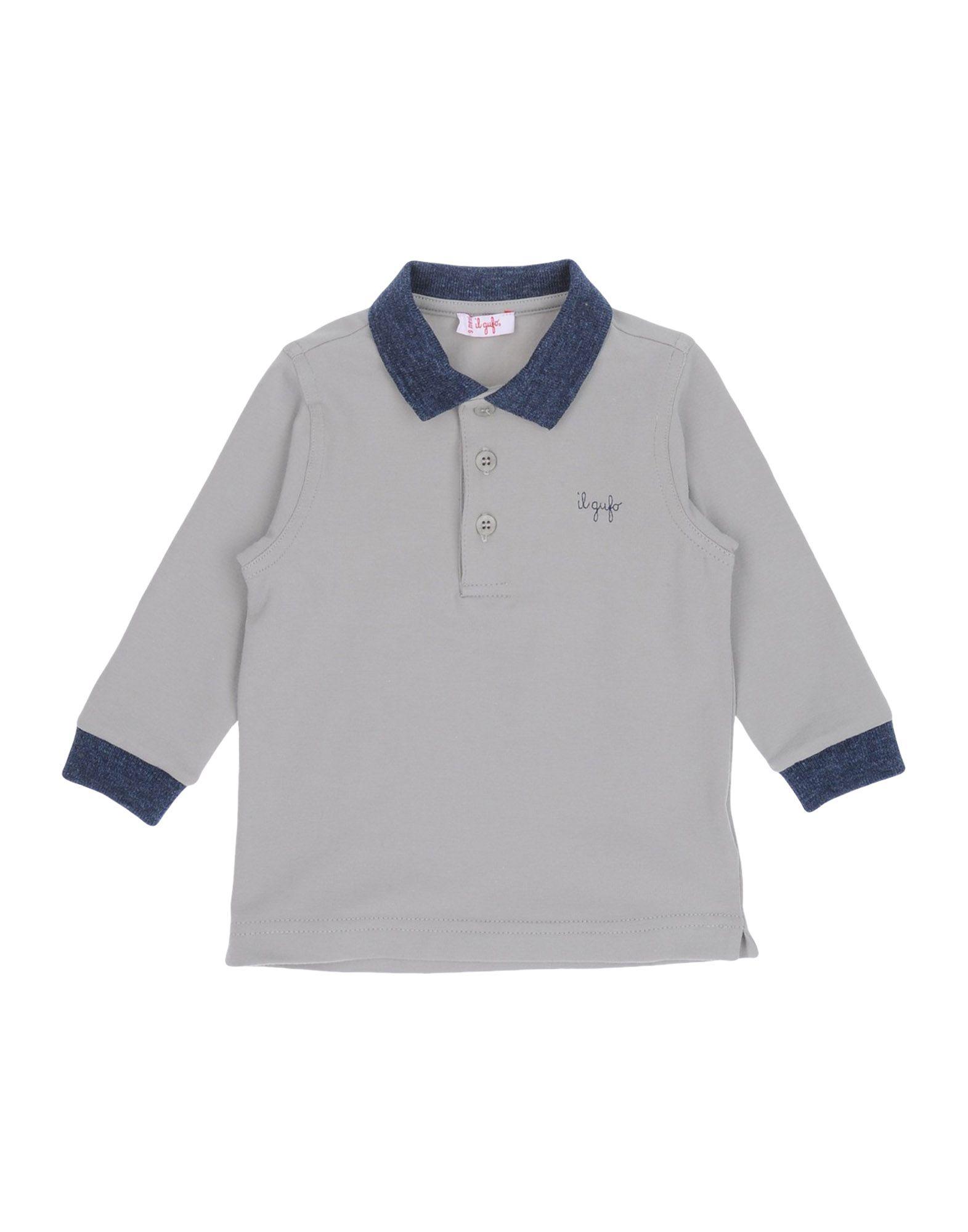 《期間限定 セール開催中》IL GUFO ボーイズ 0-24 ヶ月 ポロシャツ グレー 9 コットン 90% / ポリウレタン 10%