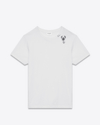 SAINT LAURENT T-Shirt & Jersey D short sleeve zodiac t-shirt in ivory and black scorpio printed cotton jersey f