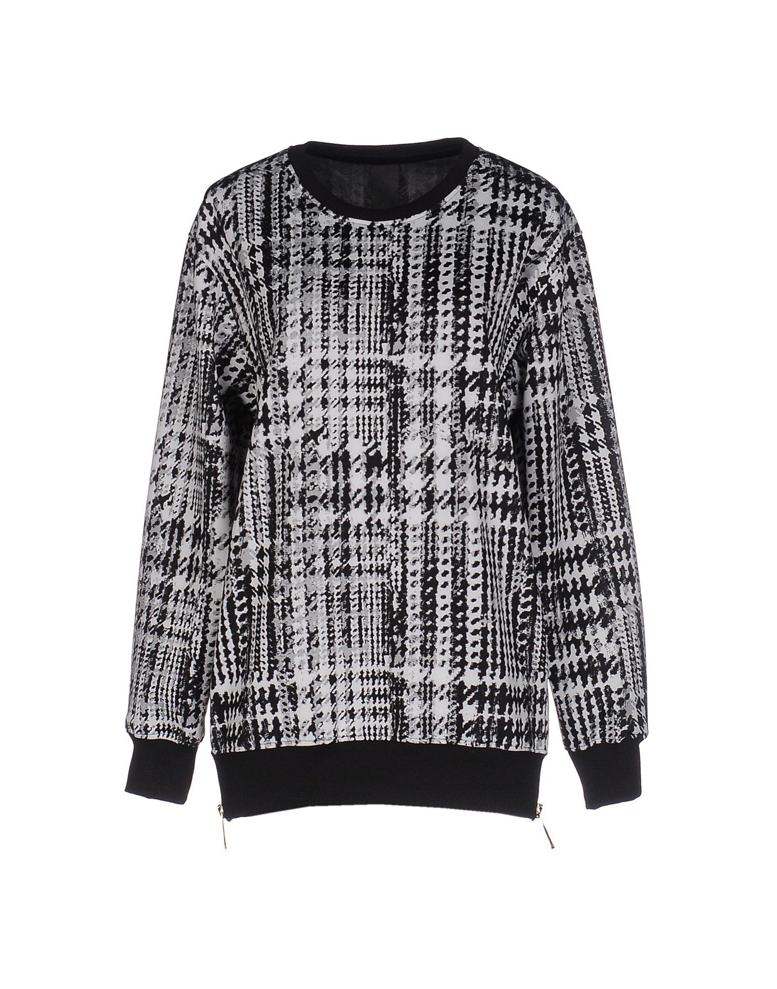 《送料無料》+MINO レディース スウェットシャツ ブラック S ポリエステル 100%
