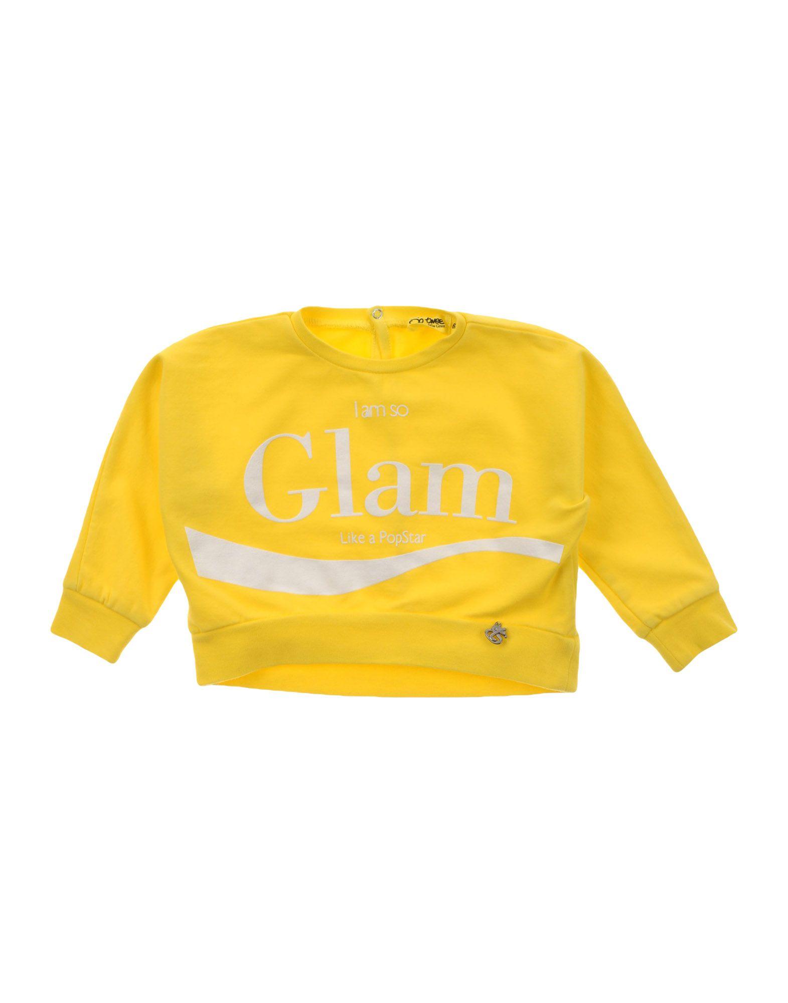 So Twee By Miss Grant Kids' Sweatshirts In Yellow