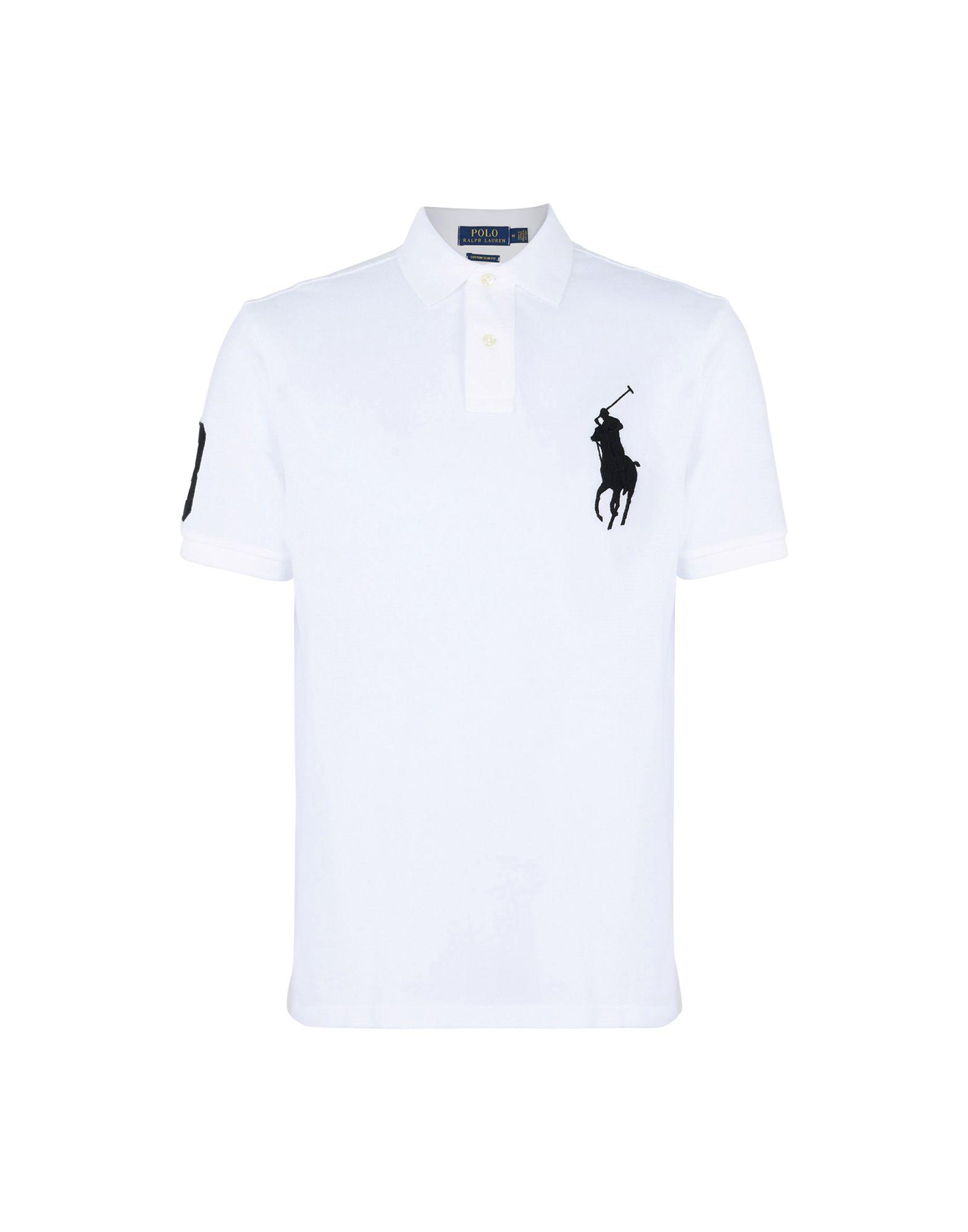 《送料無料》POLO RALPH LAUREN メンズ ポロシャツ ホワイト S コットン 100% Custom Fit Big PP Polo