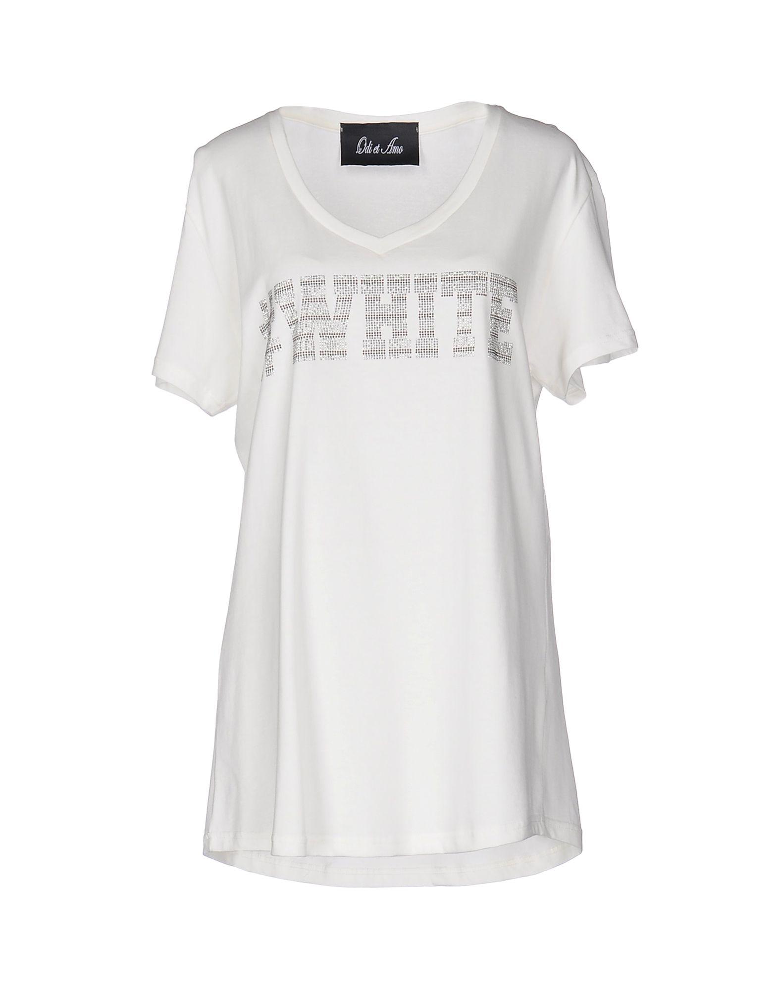 《送料無料》ODI ET AMO レディース T シャツ ホワイト M コットン 100%