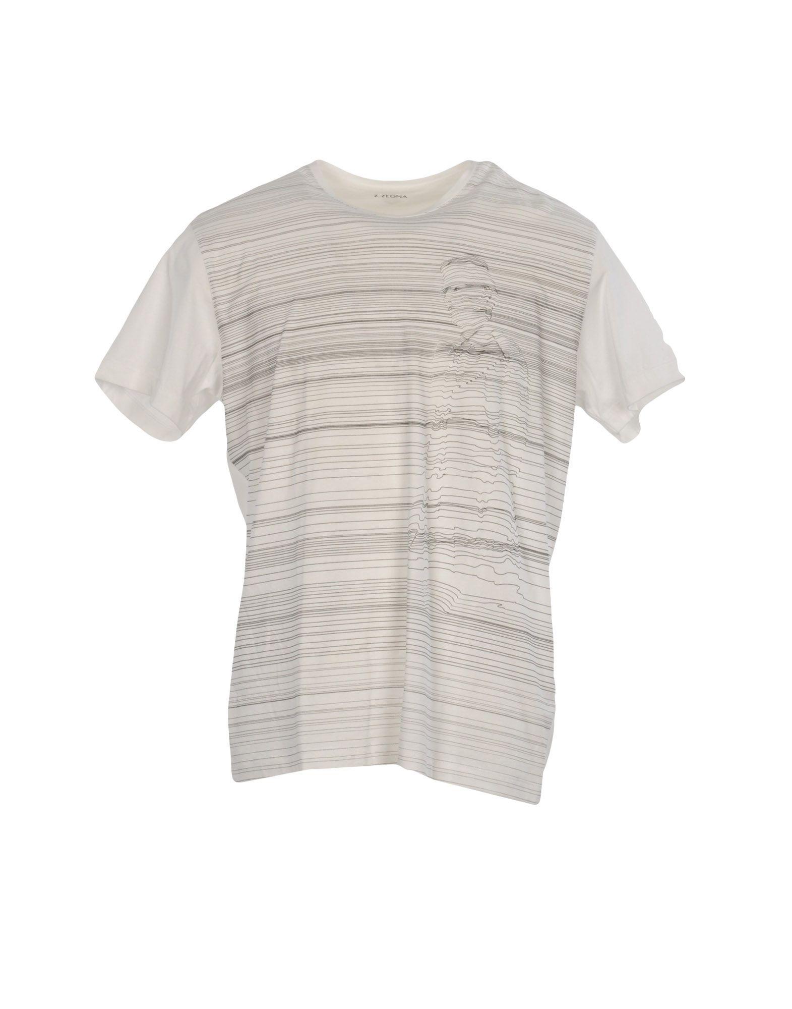 《送料無料》ZZEGNA メンズ T シャツ ホワイト L コットン