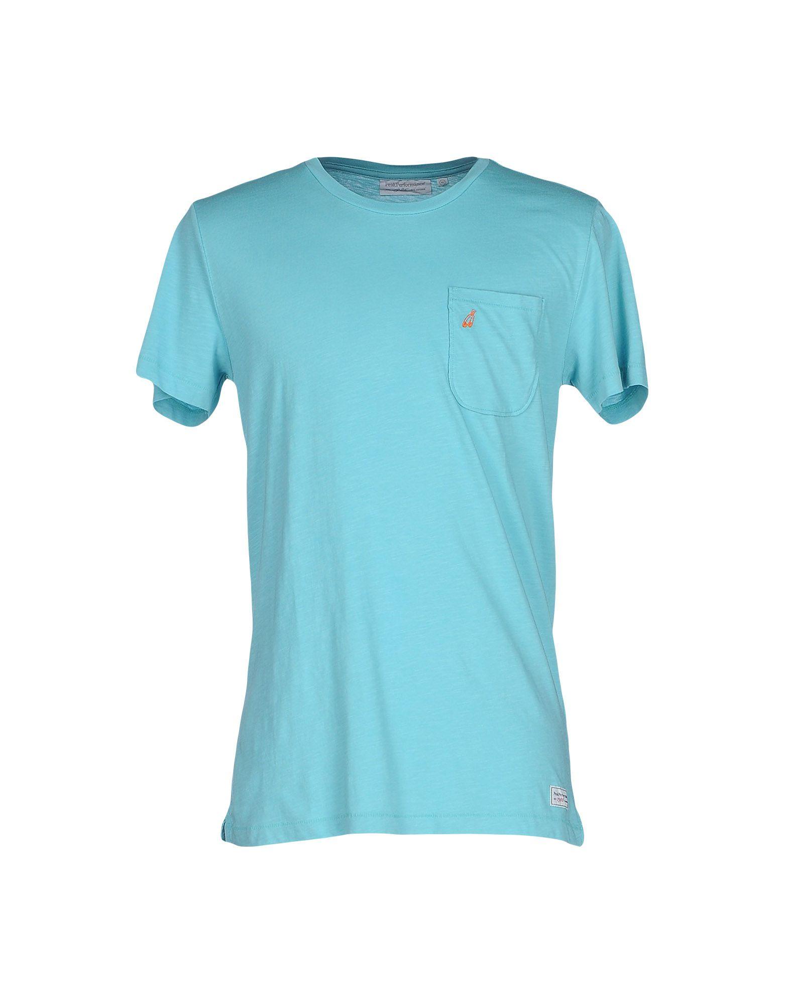 《送料無料》PEAK PERFORMANCE メンズ T シャツ ターコイズブルー S コットン 100%