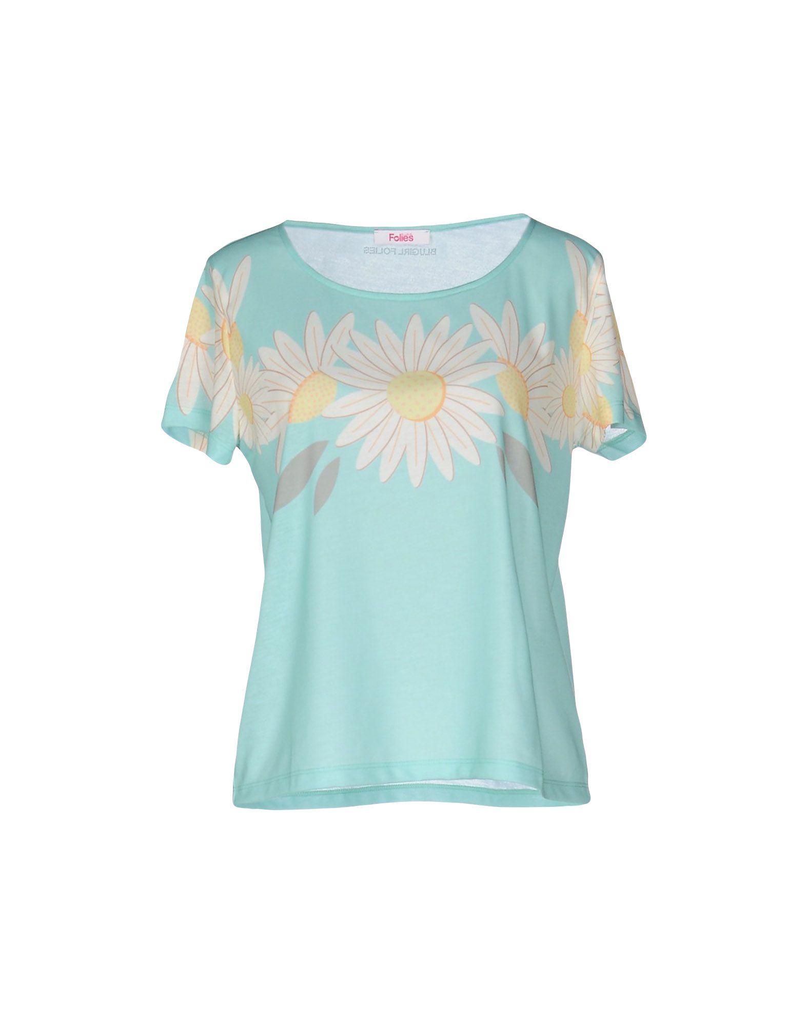BLUGIRL FOLIES Damen T-shirts Farbe Säuregrün Größe 3