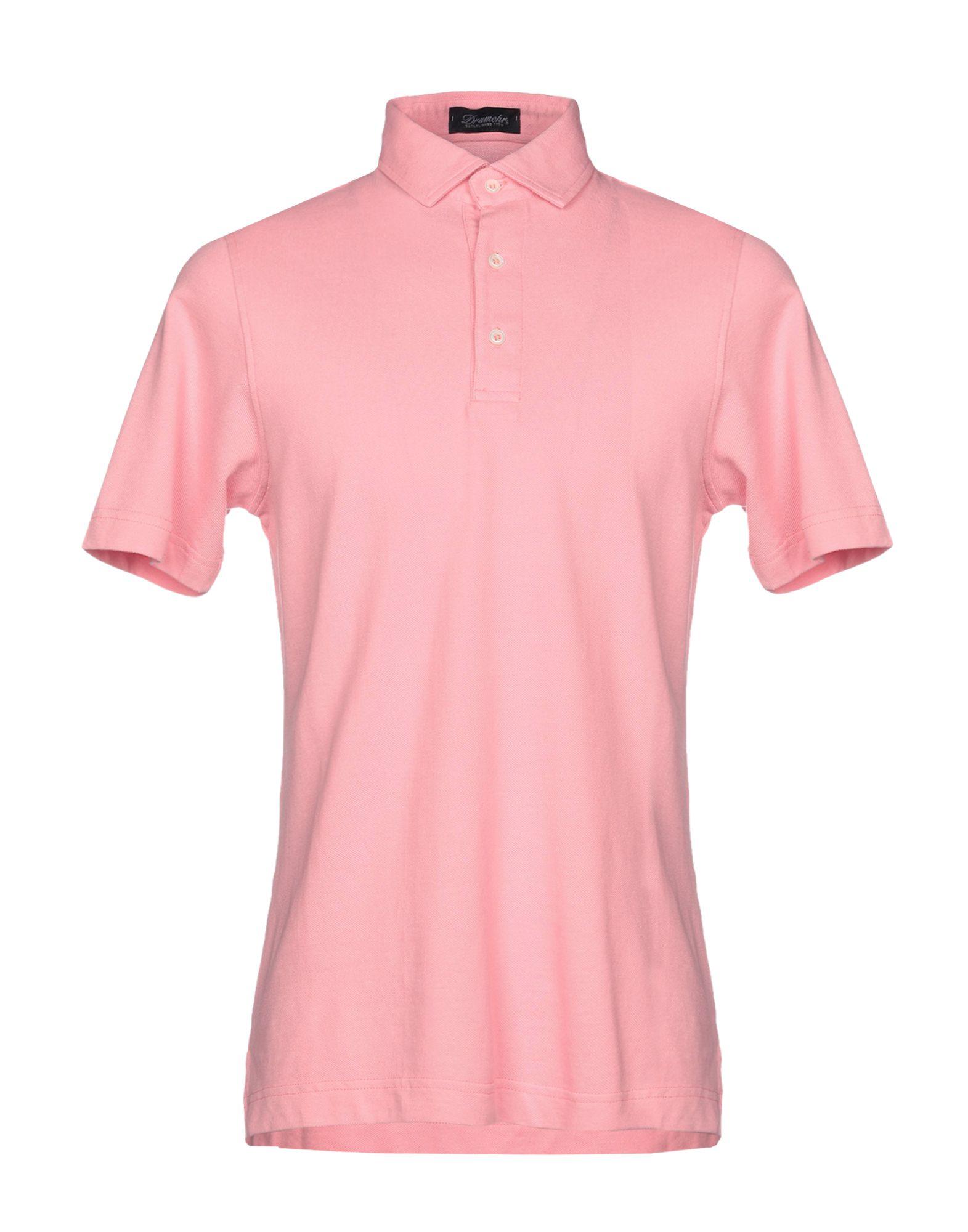 《送料無料》DRUMOHR メンズ ポロシャツ ピンク M コットン 100%