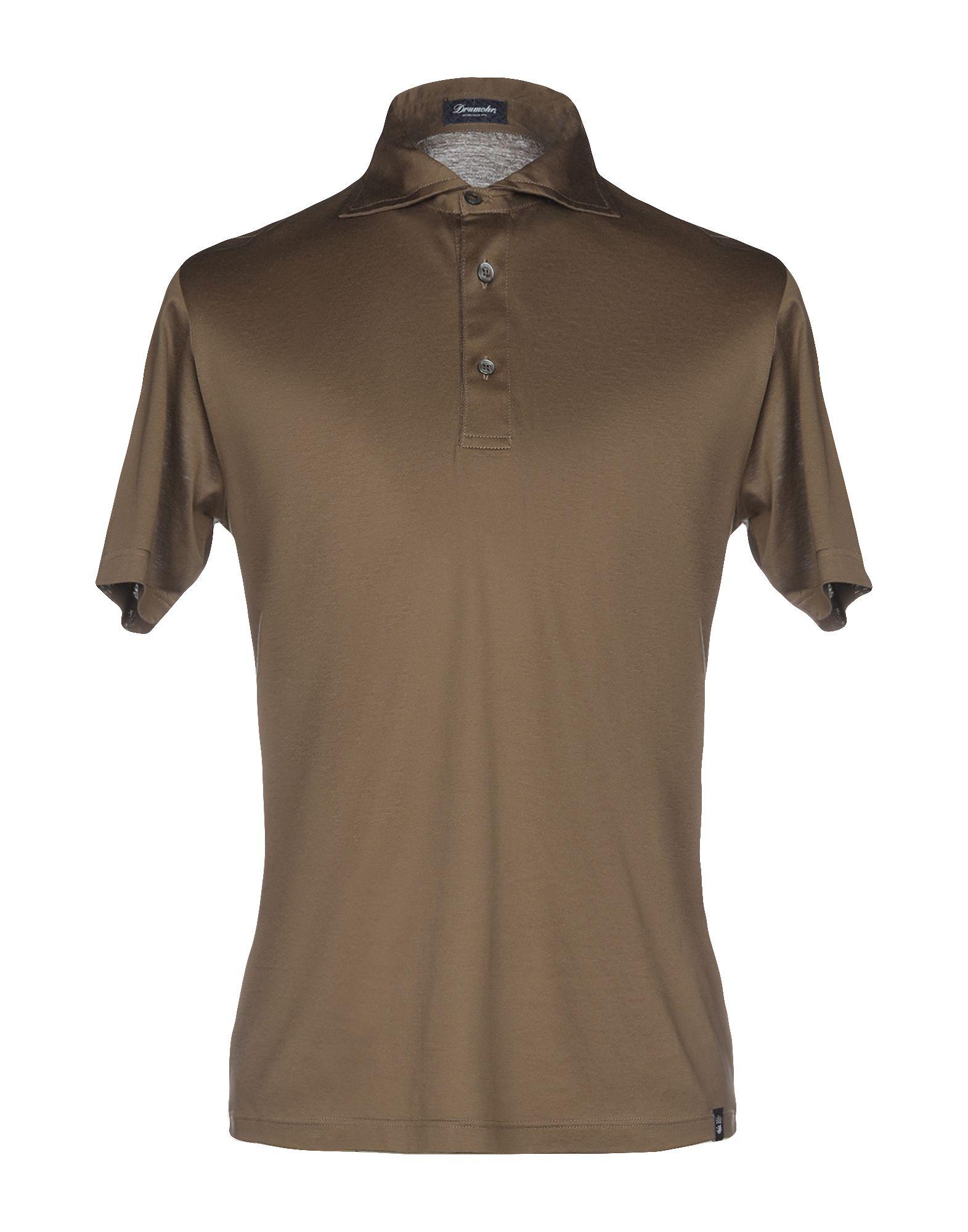 《送料無料》DRUMOHR メンズ ポロシャツ ブラウン XXS コットン 100%