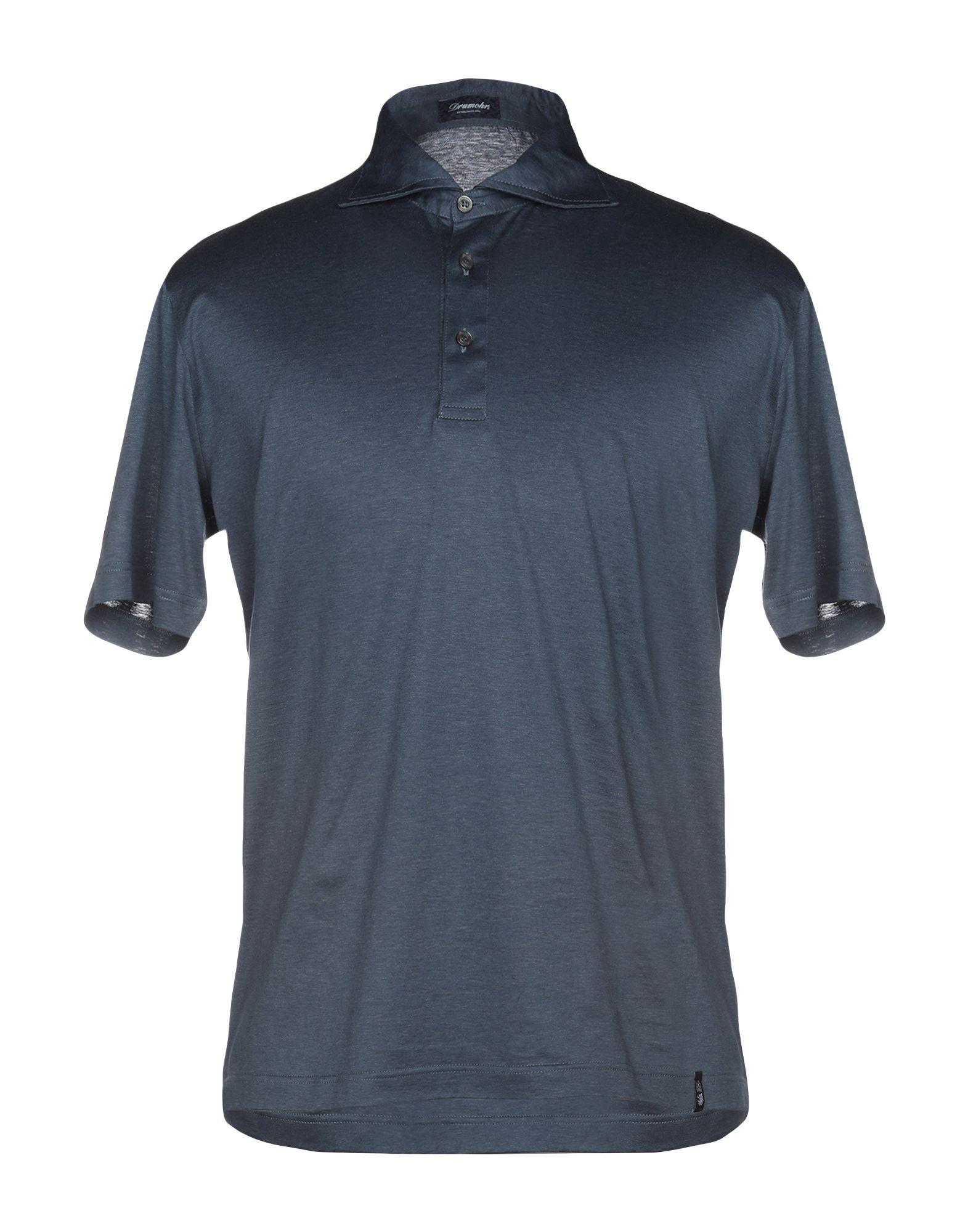 《送料無料》DRUMOHR メンズ ポロシャツ ブルーグレー XS コットン 100%