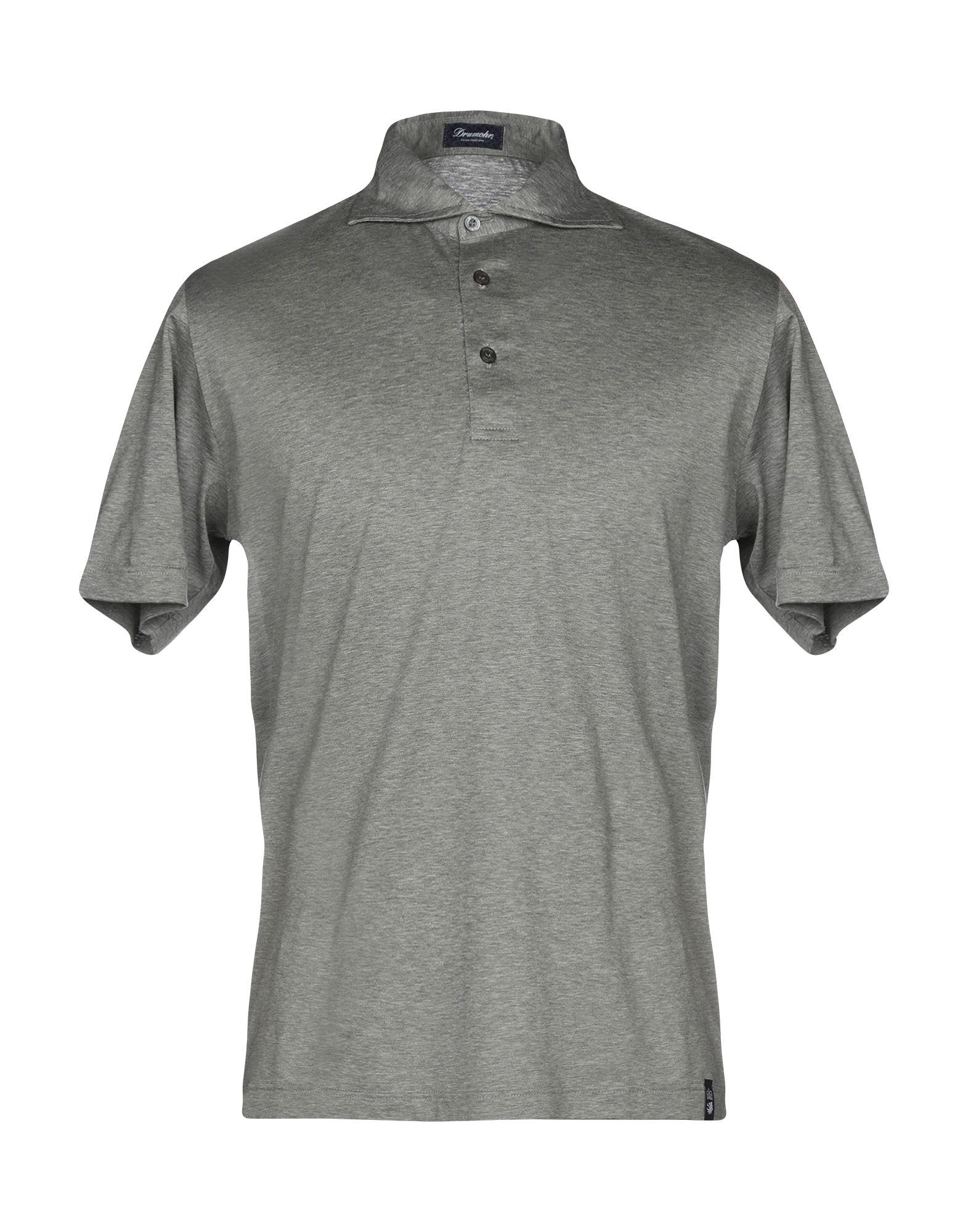 《送料無料》DRUMOHR メンズ ポロシャツ グレー XS コットン 100%