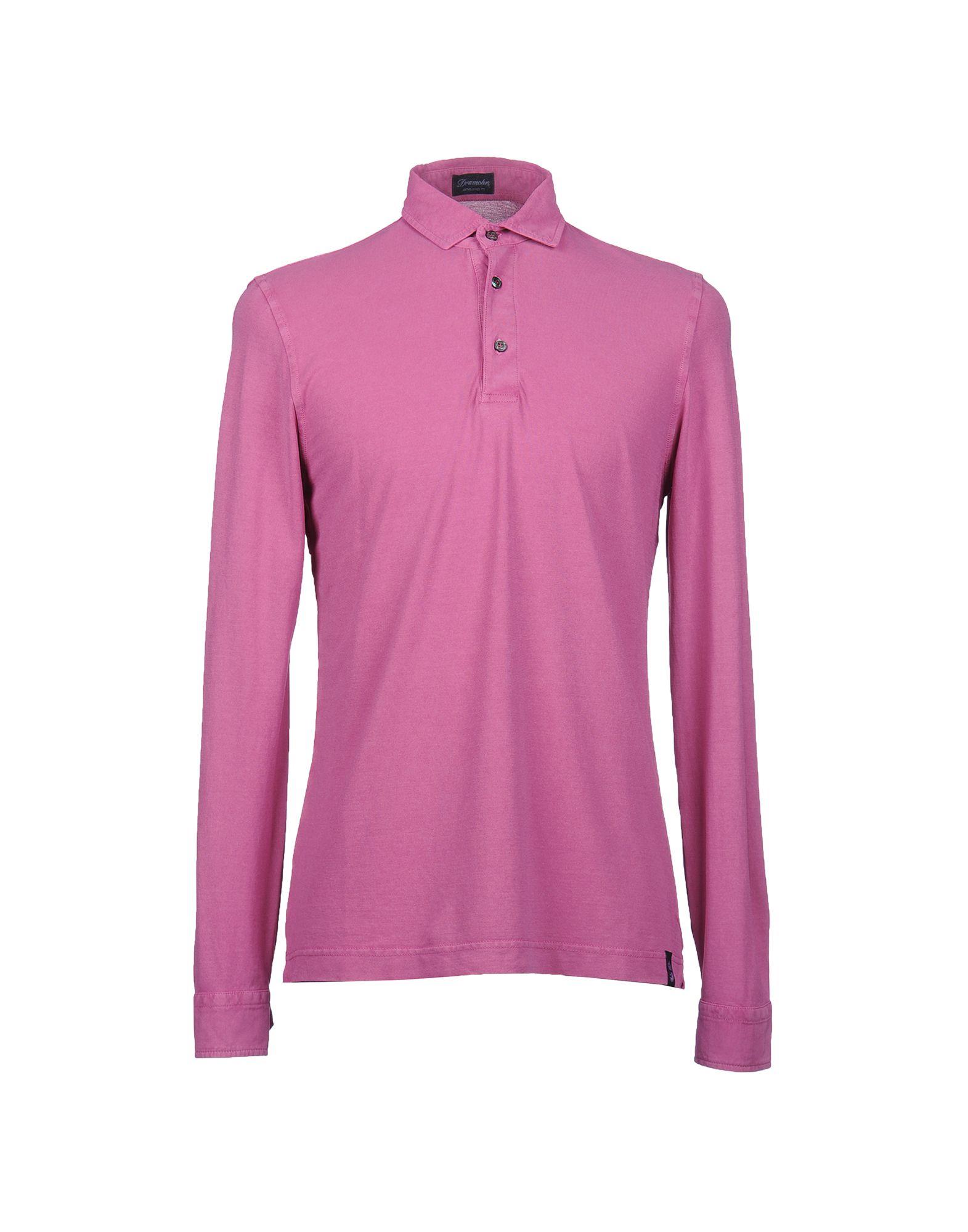 《送料無料》DRUMOHR メンズ ポロシャツ ライトパープル XXS コットン 100%
