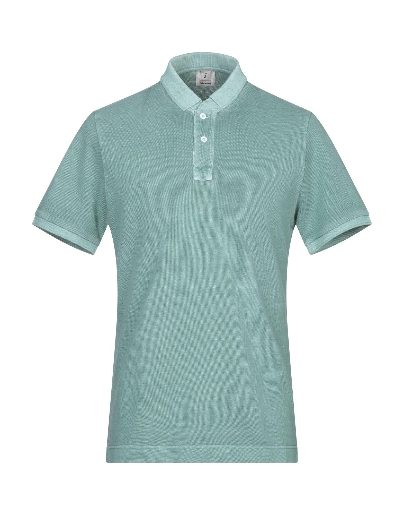 《送料無料》DRUMOHR メンズ ポロシャツ グリーン S コットン 100%