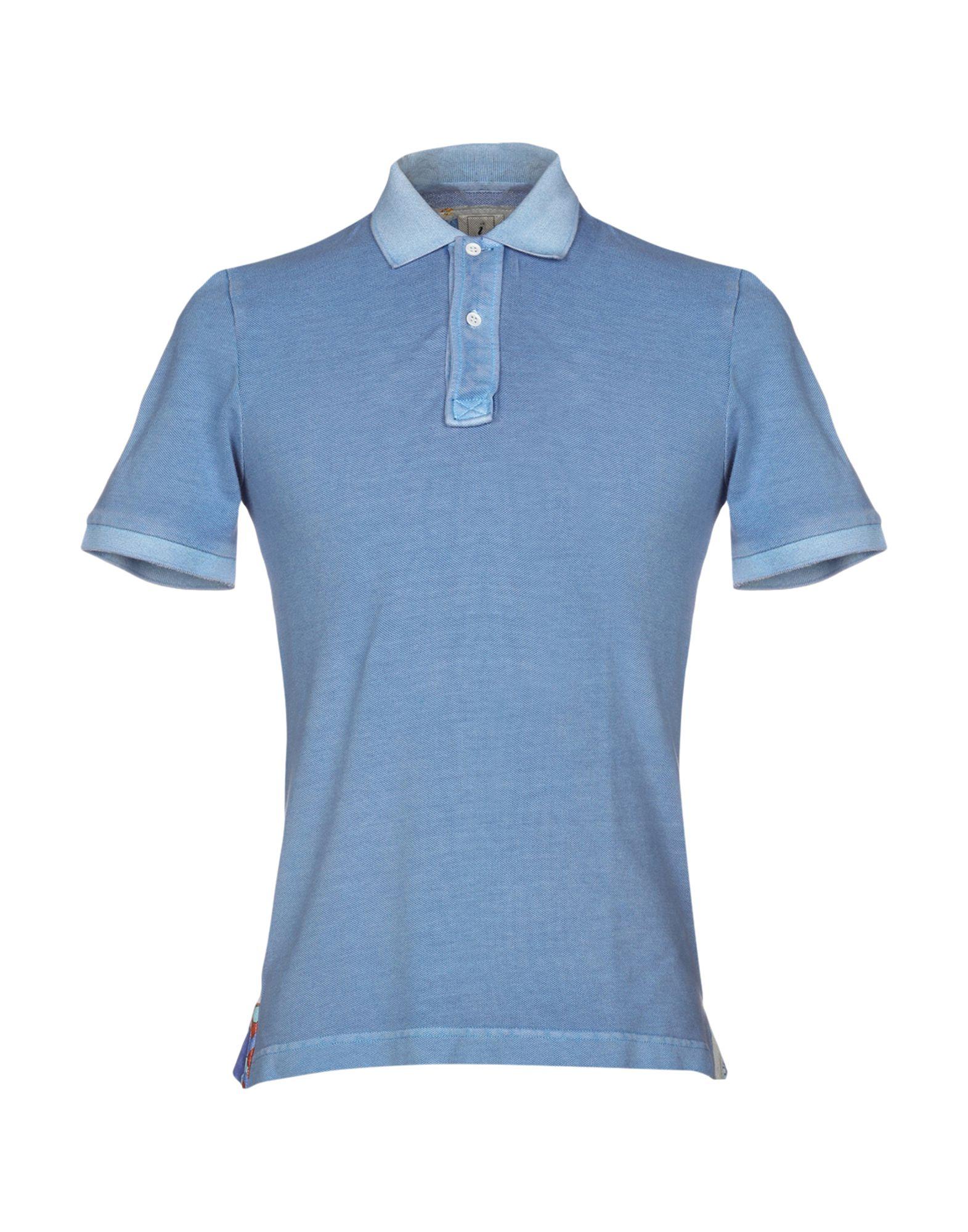《送料無料》DRUMOHR メンズ ポロシャツ アジュールブルー XS コットン 100%