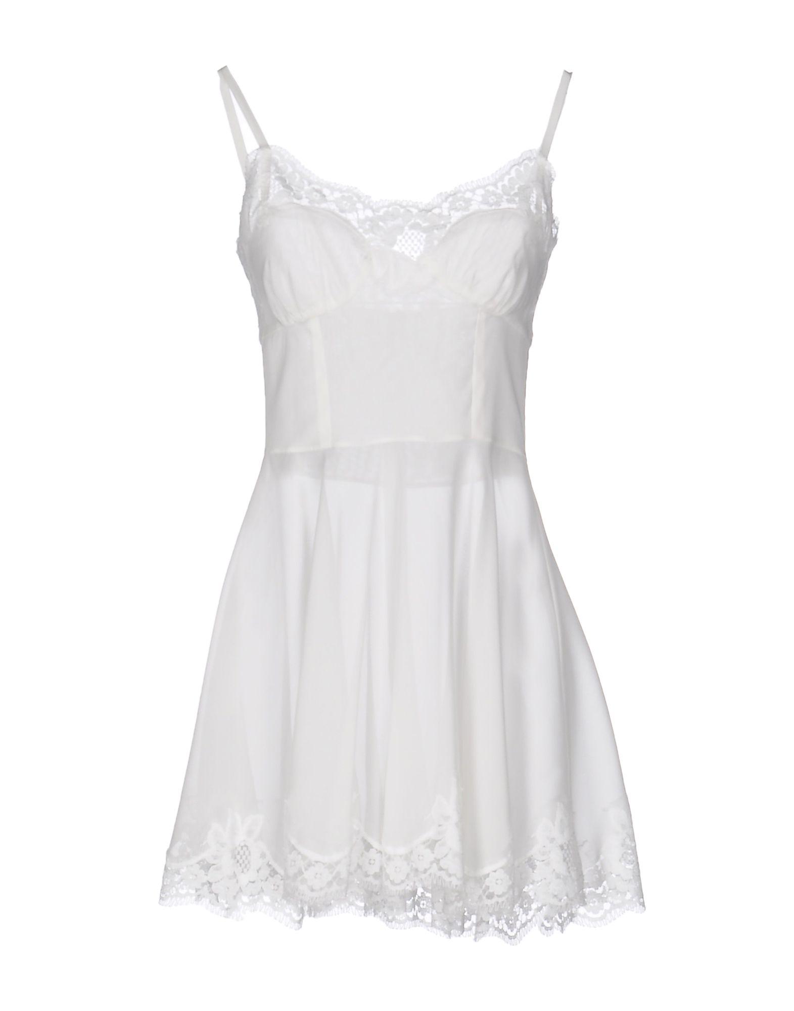 DOLCE & GABBANA Damen Kurzes Kleid Farbe Weiß Größe 2