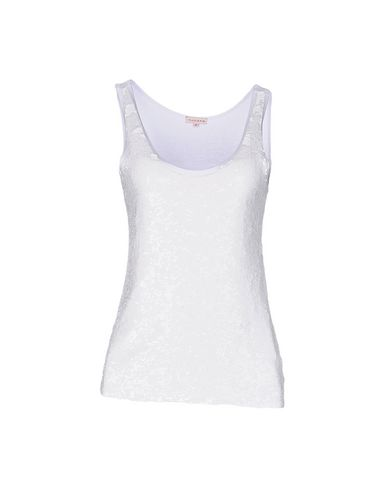 P.A.R.O.S.H. レディース タンクトップ ホワイト L ナイロン 50% / レーヨン 45% / ポリウレタン 5%