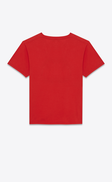 SAINT LAURENT T-Shirt and Jersey U t-shirt in red blood luster printed cotton b_V4