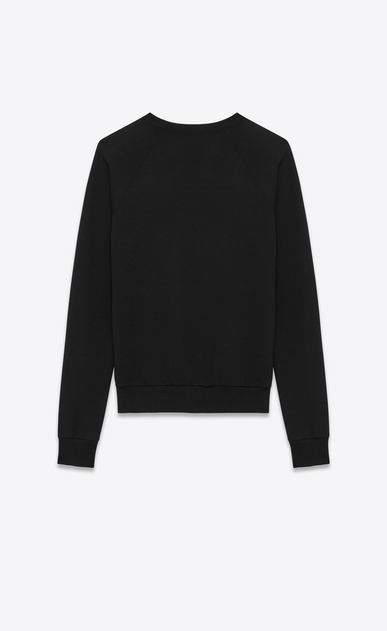 SAINT LAURENT Sportswear Tops U Classic Sweatshirt in Black and Off White Constellation Printed French Terrycloth b_V4