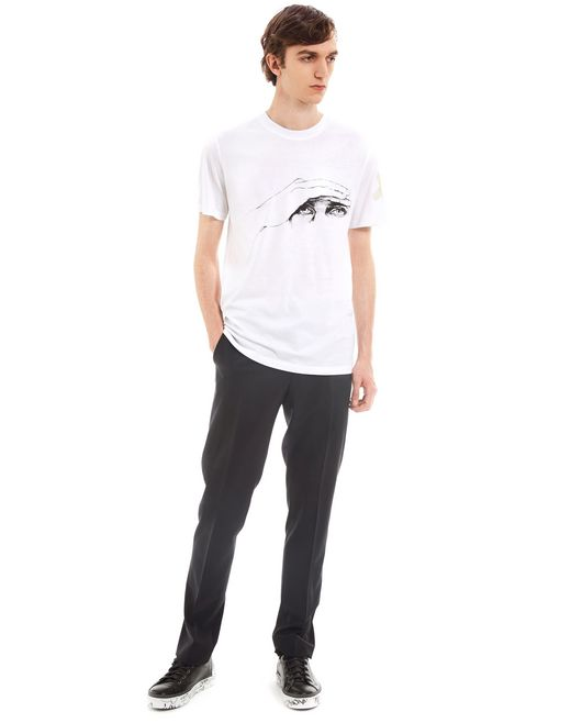 "lanvin ""gaze"" white slim-fit t-shirt by cédric rivrain men"