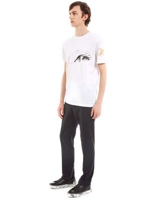 "LANVIN ""GAZE"" WHITE SLIM-FIT T-SHIRT BY CÉDRIC RIVRAIN Polos & T-Shirts U e"