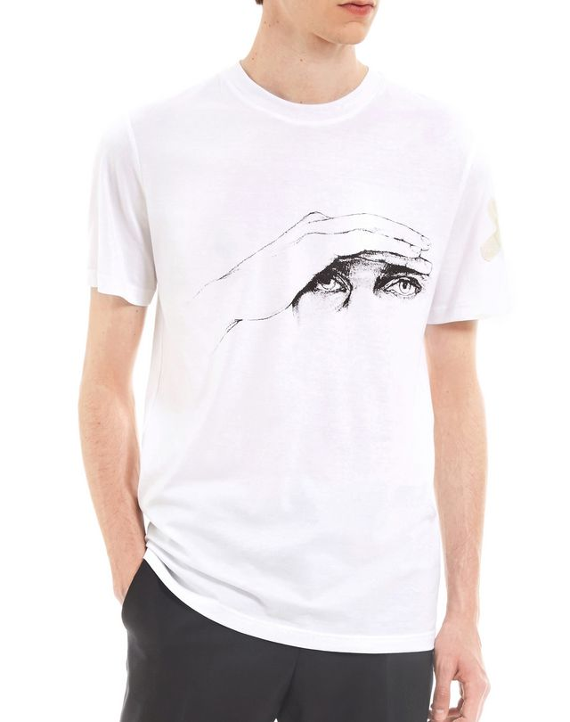 "LANVIN ""GAZE"" WHITE SLIM-FIT T-SHIRT BY CÉDRIC RIVRAIN Polos & T-Shirts U f"