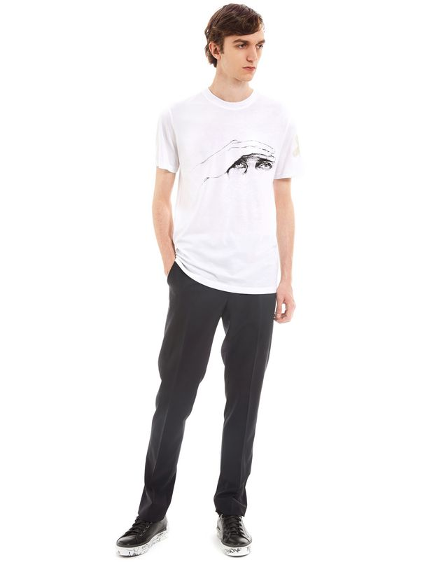 "LANVIN ""GAZE"" WHITE SLIM-FIT T-SHIRT BY CÉDRIC RIVRAIN Polos & T-Shirts U r"