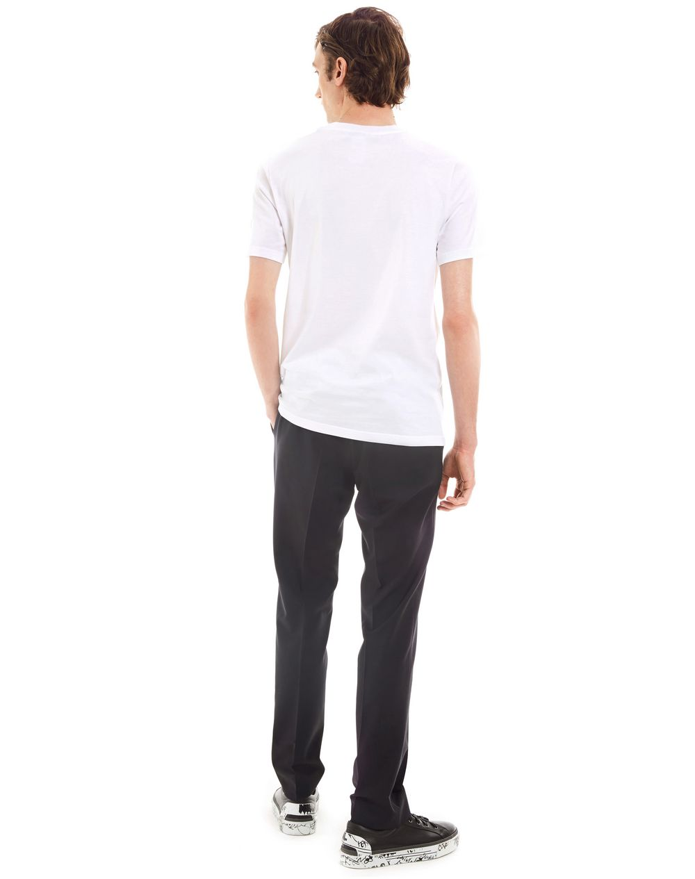 """GAZE"" WHITE SLIM-FIT T-SHIRT BY CÉDRIC RIVRAIN - Lanvin"