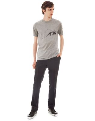 """GAZE"" GREY SLIM-FIT T-SHIRT BY CÉDRIC RIVRAIN"