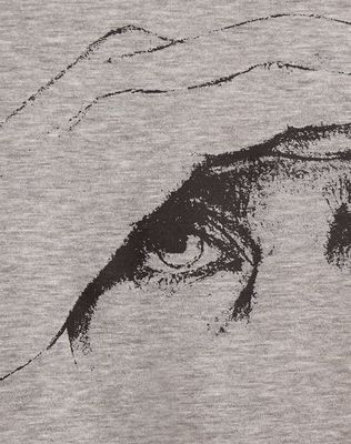 "LANVIN ""GAZE"" GREY SLIM-FIT T-SHIRT BY CÉDRIC RIVRAIN Polos & T-Shirts U b"