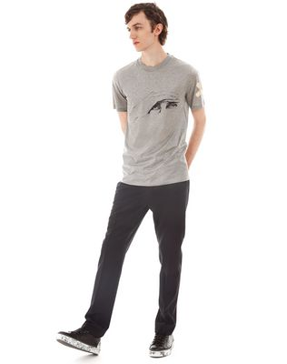 "LANVIN ""GAZE"" GREY SLIM-FIT T-SHIRT BY CÉDRIC RIVRAIN Polos & T-Shirts U e"