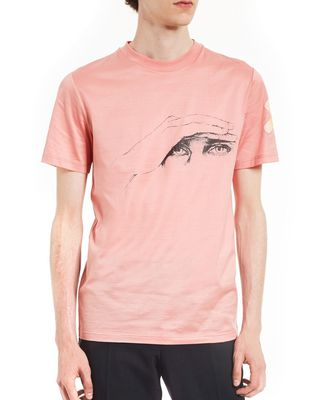 """GAZE"" PINK SLIM-FIT T-SHIRT BY CÉDRIC RIVRAIN"