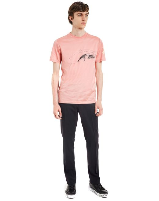 "lanvin ""gaze"" pink slim-fit t-shirt by cédric rivrain men"