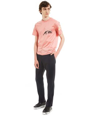 "LANVIN ""GAZE"" PINK SLIM-FIT T-SHIRT BY CÉDRIC RIVRAIN Polos & T-Shirts U e"