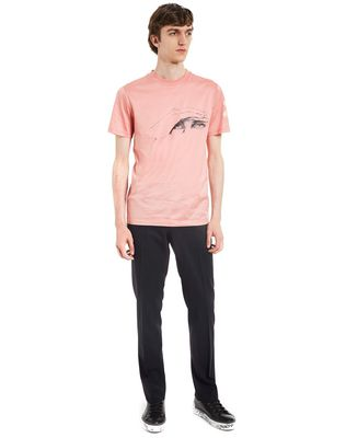 "LANVIN ""GAZE"" PINK SLIM-FIT T-SHIRT BY CÉDRIC RIVRAIN Polos & T-Shirts U r"