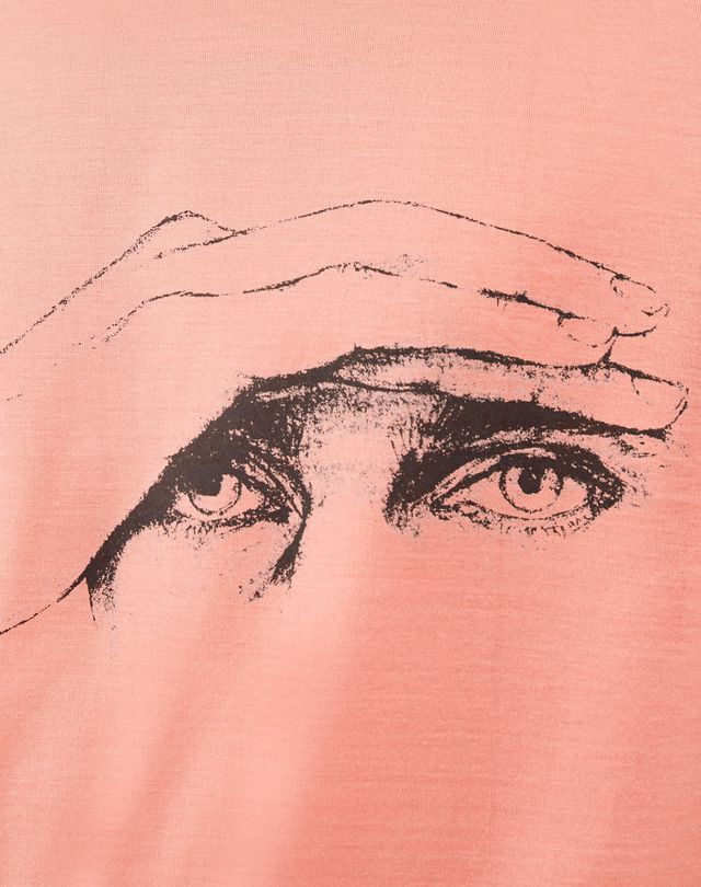 "LANVIN ""GAZE"" PINK SLIM-FIT T-SHIRT BY CÉDRIC RIVRAIN Polos & T-Shirts U a"
