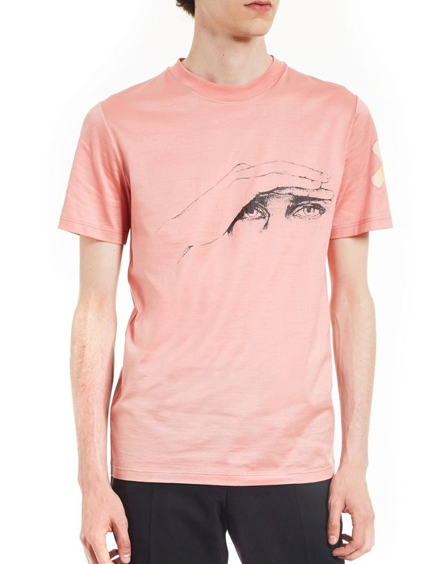 "LANVIN ""GAZE"" PINK SLIM-FIT T-SHIRT BY CÉDRIC RIVRAIN Polos & T-Shirts U f"