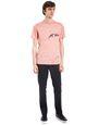 "LANVIN Polos & T-Shirts Man ""GAZE"" PINK SLIM-FIT T-SHIRT BY CÉDRIC RIVRAIN f"