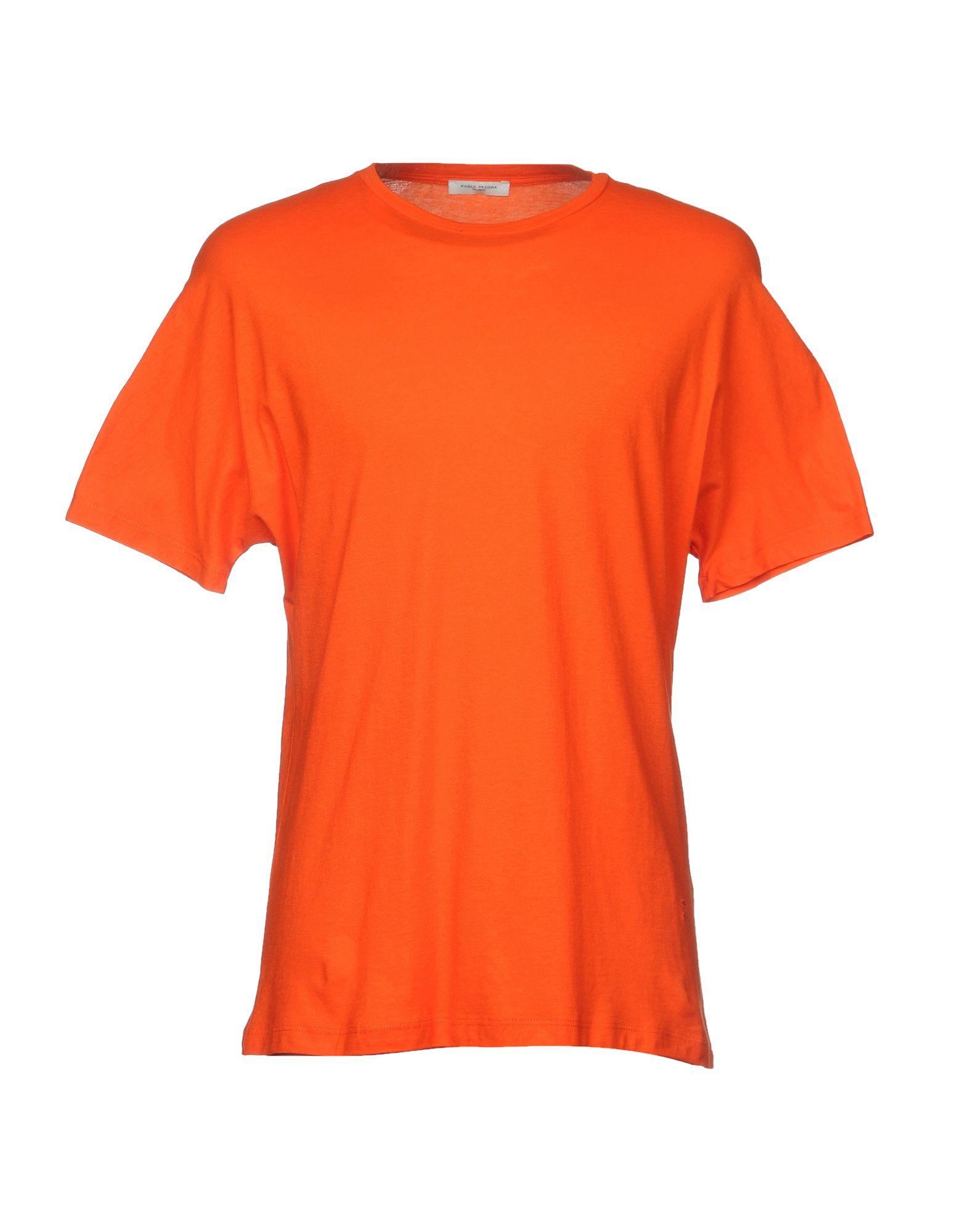 《送料無料》PAOLO PECORA メンズ T シャツ オレンジ M コットン 100%