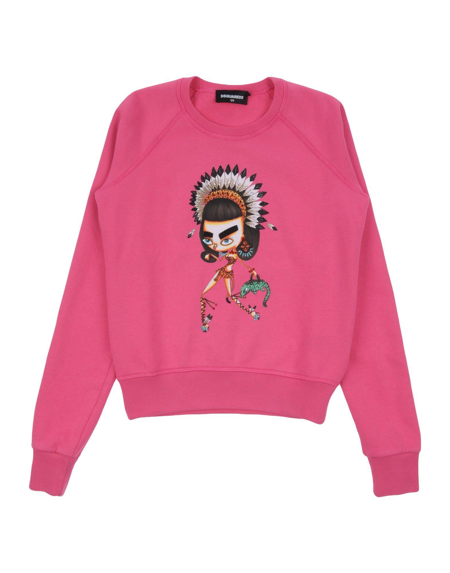 DSQUARED2 Mädchen 9-16 jahre Sweatshirt Farbe Fuchsia Größe 4