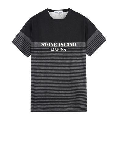 STONE ISLAND Short sleeve t-shirt 2NSXG STONE ISLAND MARINA_CORROSION PRINT