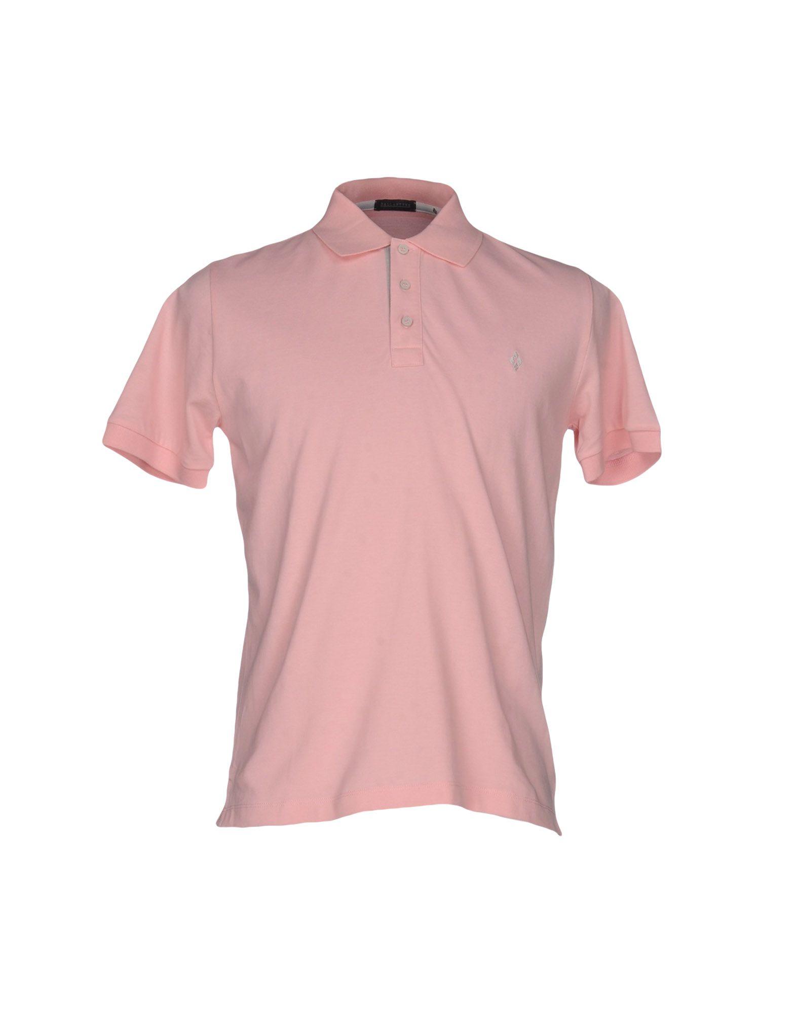 BALLANTYNE メンズ ポロシャツ ピンク XXL コットン 100%