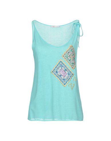 Купить Женскую футболку VDP BEACH бирюзового цвета
