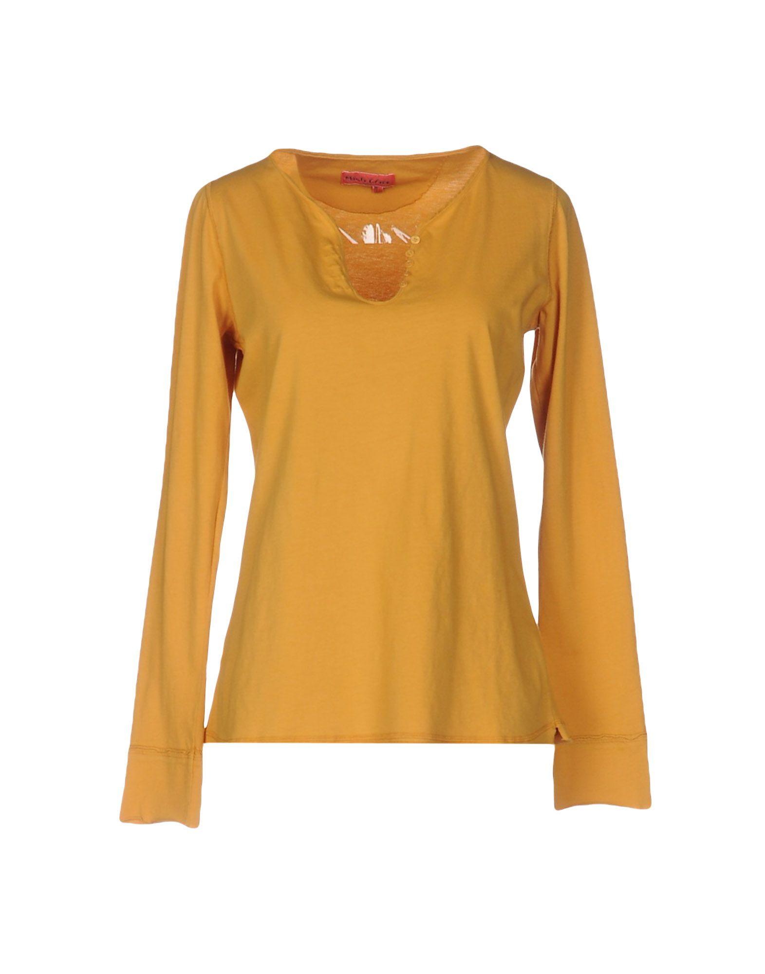 《送料無料》MANILA GRACE DENIM レディース T シャツ オークル 0 コットン 100%