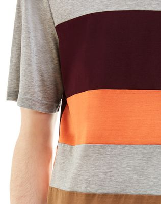LANVIN T-SHIRT WITH COLORED INSETS Polos & T-Shirts U a