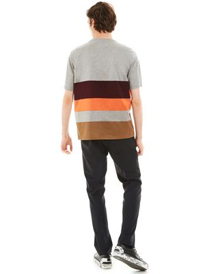 LANVIN T-SHIRT WITH COLORED INSETS Polos & T-Shirts U d